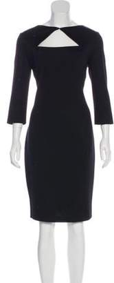 St. John Crystal-Embellished Sheath Dress Black Crystal-Embellished Sheath Dress