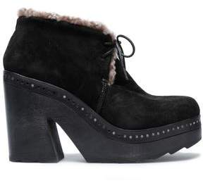 Rag & Bone Suede Platform Ankle Boots