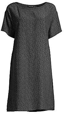 Eileen Fisher Women's Morse Code Shift Dress