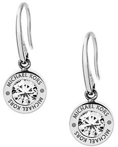 MICHAEL Michael Kors Michael Kors Brilliance Logo Drop Earrings