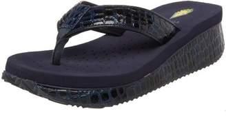 Volatile Women's Mini Croco Wedge Sandal