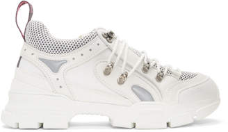 Gucci White Flashtrek Sneakers