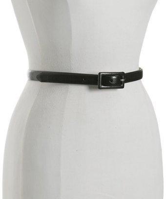 Fashion Focus blue snake printed skinny belt