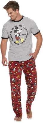Men's Disney's Mickey Mouse Evolution of Mickey Tee & Lounge Pants Set