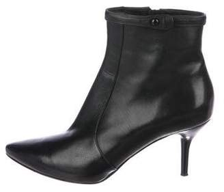 Via Spiga Leather Pointed-Toe Ankle Boots