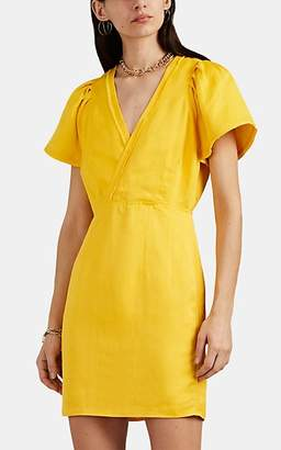 Derek Lam 10 Crosby Women's Frayed-Edge Washed Satin Sheath Dress - Yellow