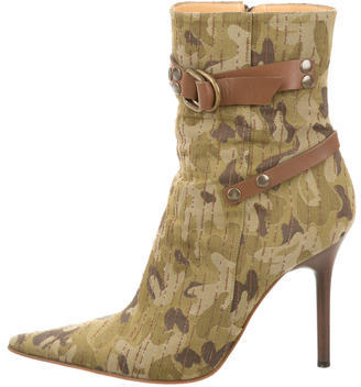 Casadei Camouflage Ankle Boots $130 thestylecure.com