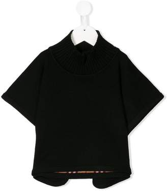 Burberry ribbed roll neck poncho
