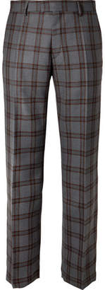 Dries Van Noten Checked Wool Trousers
