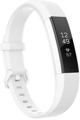 Fitbit Moretek For Alta Band and Alta HR Band Strap Adjustable Replacement with Secure Metal Clasp Buckle(White,Small)