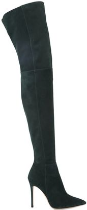 100mm Suede Over-The-Knee-Boots $1,745 thestylecure.com