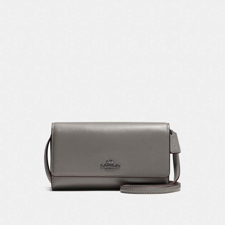 Coach Phone Crossbody - HEATHER GREY/DARK GUNMETAL - STYLE