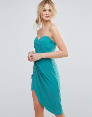 TFNC Bandeau Ruched Front Bridesmaid Dress $48 thestylecure.com