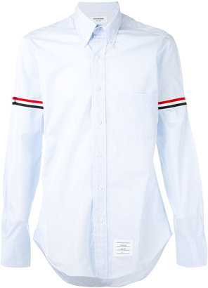 Thom Browne stripe detail shirt $455.20 thestylecure.com