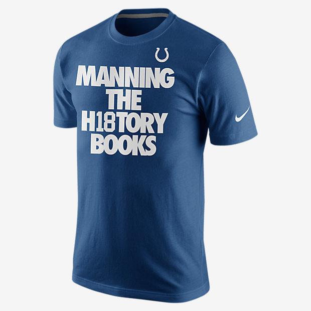 """Nike """"History Books"""" (NFL Colts) Men's T-Shirt"""