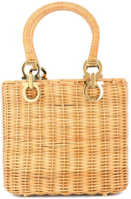 03b43cde7 Salvatore Ferragamo Pre-Owned Gancini wicker bag