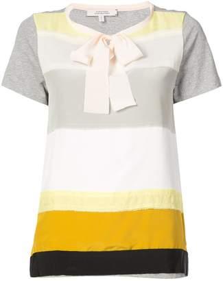 Schumacher Dorothee striped bow detail T-shirt