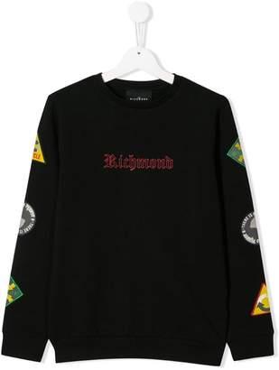John Richmond Junior エンブロイダリー ロゴ スウェットシャツ