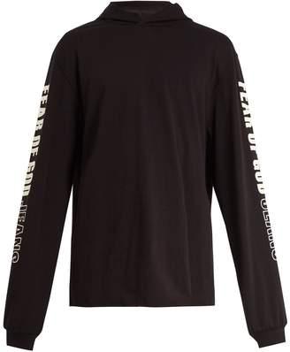 Fear Of God Logo-printed hooded cotton sweatshirt