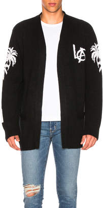 Adaptation Los Angeles Cashmere Cardigan in Black & White | FWRD