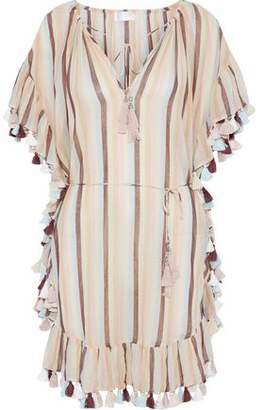Zimmermann Jasper Tasseled Striped Cotton-gauze Coverup