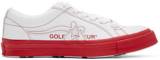 Converse White and Red Golf le Fleur* OX Sneakers