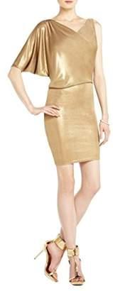BCBGMAXAZRIA Women's Abrial Draped One Shoulder Tunic Dress