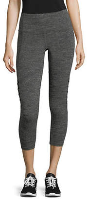 Calvin Klein Cut-Out Cropped Jersey Leggings