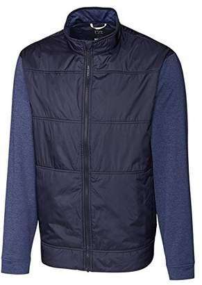 Cutter & Buck Men's Moisture Wicking Drytec Heathered Stealth Full Zip Jacket