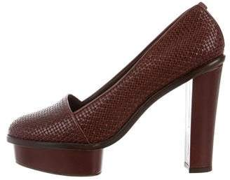 Opening Ceremony Chantal Woven Leather Pumps