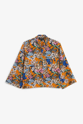 Monki Wide button-up blouse