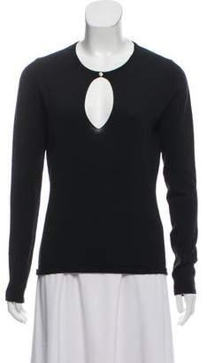 Versace Wool Long Sleeve Top