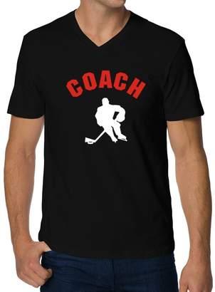 Coach Teeburon Hockey V-Neck T-Shirt