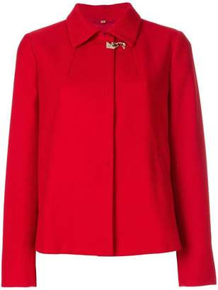 Fay rear pleat short jacket