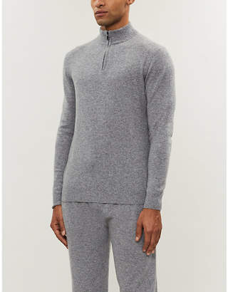 Derek Rose Finley half-zip cashmere jumper