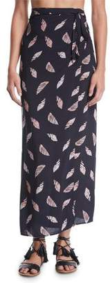 Vix Lee Printed Wrap Coverup Skirt