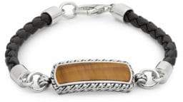 Effy Tigers Eye, Sterling Silver and Leather Bracelet