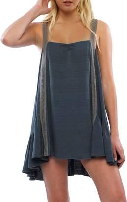 Anama Crochet-Trim Mini Dress