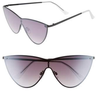 Leith 65mm Futuristic Metal Cateye Sunglasses