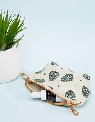 Elizabeth Scarlett Jungle Leaf Mini Travel Bag 13x10cm