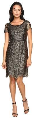 NUE by Shani Metallic Lace Dress Women's Dress