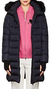 Herno Women's Fox-Fur-Trimmed Down-Quilted Parka-Navy