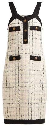 Gucci Tweed Mini Dress - Womens - Ivory Multi