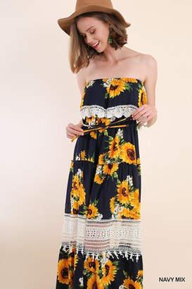 Umgee USA Sunflower Maxi Dress