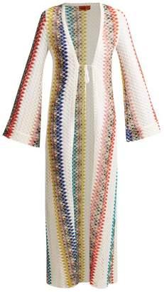 Missoni Mare - Crochet Zigzag Knit Cardigan - Womens - White Multi