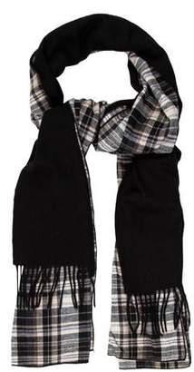 Donni Charm Plaid Wool-Trimmed Scarf w/ Tags