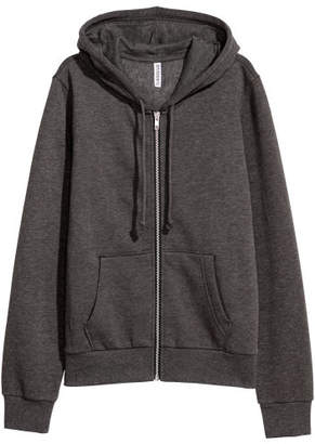 H&M Hooded Sweatshirt Jacket - Black