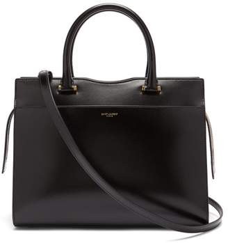 Saint Laurent Uptown Leather Tote - Womens - Black