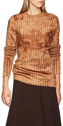 Sies Marjan Women's Dion Rib-Knit Velour Sweater