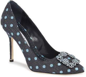 Manolo Blahnik 'Hangisi' Jeweled Pump
